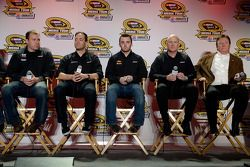 Ryan Newman, Paul Menard, Austin Dillon en Richard Childress