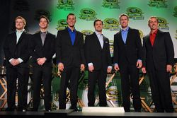 Chris Buescher, Ryan Reed, Trevor Bayne, Ricky Stenhouse Jr., Carl Edwards en Greg Biffle