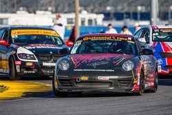 #08 Rebel Rock / MBRP Racing Porsche 997: Kyle Marcelli, Martin Barkey