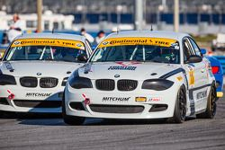 #11 Mitchum Motorsports BMW 128i: Pete McIntosh, Michael Johnson and #10 Mitchum Motorsports BMW 128