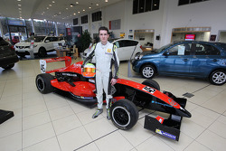 Colin Noble Jr. with his Formula Renault