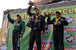 John Force, Jason Line and Khalid Albalooshi