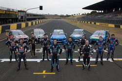 Craig Lowndes, Jamie Whincup, James Moffat, Rick Kelly, Scott McLaughlin, Robert Dahlgren, Will Davison, Lee Holdsworth, Mark Winterbottom et Chaz Mostert