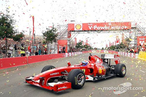 Demostración de la Scuderia Ferrari en Johannesburgo