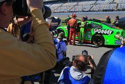Jamie McMurray, Ganassi Racing Chevrolet et Danica Patrick, Stewart-Haas Racing Chevrolet