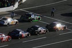 Cars await pace laps