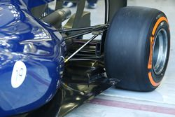 Williams FW36 achterwielophanging detail