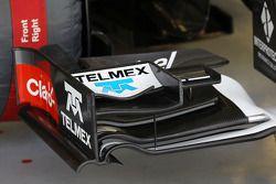 索伯C33赛车前翼细节