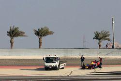 塞巴斯蒂安·维特尔,红牛车队,停在赛道上