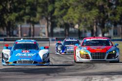 #01 Chip Ganassi Racing Riley DP Ford EcoBoost: Scott Pruett, Memo Rojas, Scott Dixon ; #35 Flying L