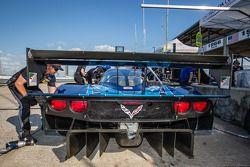 Diffuser op de #90 Spirit of Daytona Corvette DP