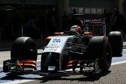 Sergio Pérez, Sahara Force India F1 VJM07 deja los pits