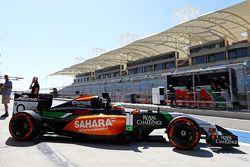 Sergio Perez, Sahara Force India F1 VJM07 deja los pits