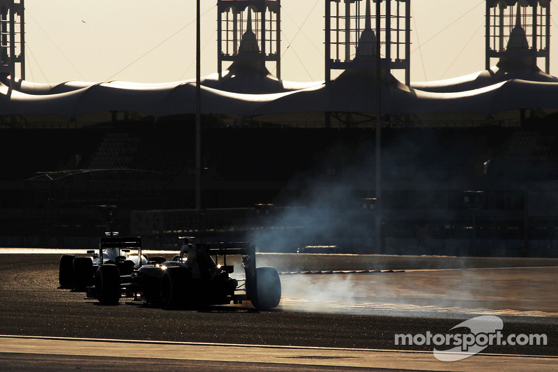 Esteban Gutierrez, Sauber C33 locks up under braking