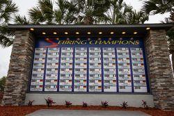 De geupdate Sebring-kampioenen wall of fame