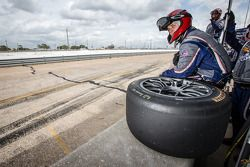 Riley Motorsports team member ready for a pit stop