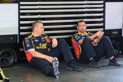 Crew members wait for practice