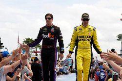 Denny Hamlin, Joe Gibbs Racing Toyota and Matt Kenseth, Joe Gibbs Racing Toyota