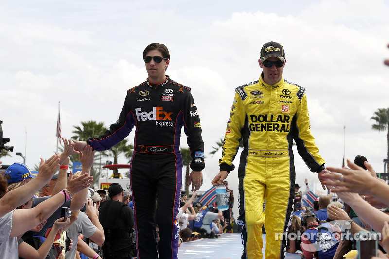 Denny Hamlin, Joe Gibbs Racing Toyota and Matt Kenseth, Joe Gibbs Racing Toyota