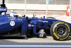 Valtteri Bottas, Williams FW36, mit Messgeräten
