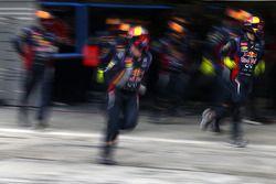 Red Bull Racing, Mechaniker beim Boxenstopptraining