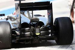 Jenson Button, McLaren MP4-29, Heckflügel und Diffusor