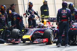 Boxenstopptraining: Daniel Ricciardo, Red Bull Racing RB10