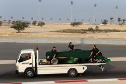 Marcus Ericsson, Caterham F1 Team, bleibt stehen