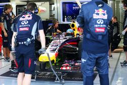 Sebastian Vettel, Red Bull Racing RB10, mit FlowViz-Farbe