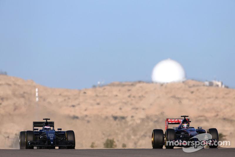 Jean-Eric Vergne, Scuderia Toro Rosso e Valtteri Bottas, Williams F1 Team