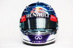 kask: Sebastian Vettel, Red Bull Racing