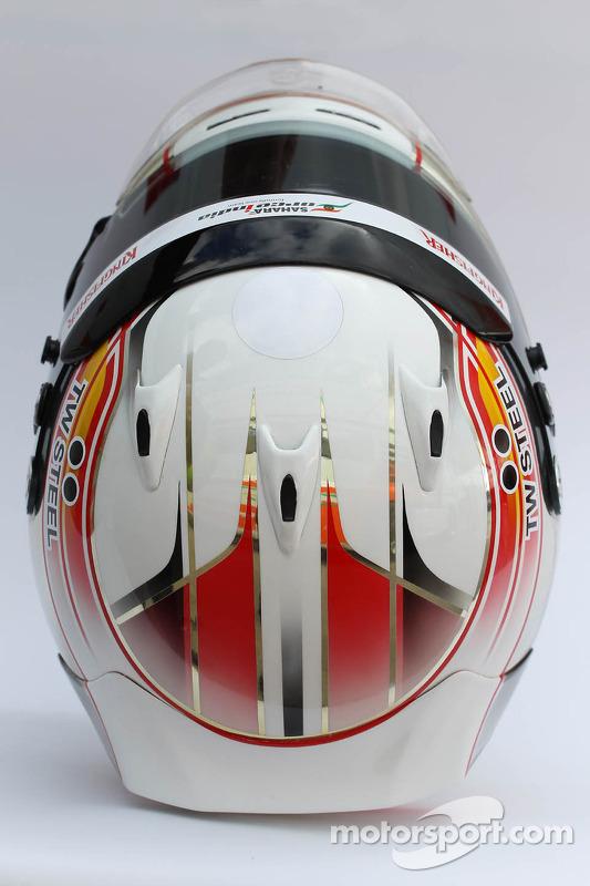 O capacete de Daniel Juncadella, Sahara Force India F1 Team piloto de teste e reseva