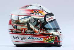 De helm van Daniel Juncadella, Sahara Force India F1 Team Test- en reservecoureur