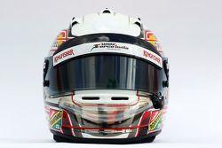The helmet of Daniel Juncadella, Sahara Force India F1 Team Test and Reserve Driver