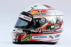 Helm von Daniel Juncadella, Sahara Force India F1 Team, Testfahrer