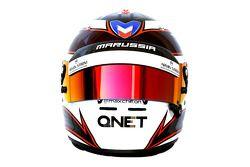 De helm van Max Chilton, Marussia F1 Team