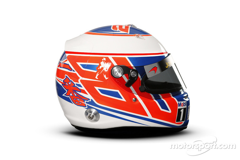 Il casco di Jenson Button, McLaren