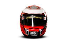 De helm van Kevin Magnussen, McLaren