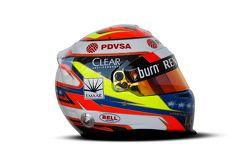 De helm van Pastor Maldonado, Lotus F1 Team