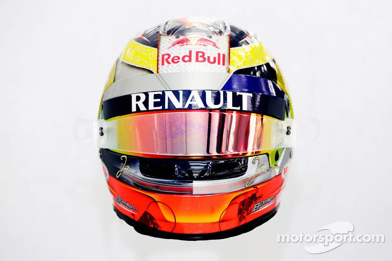 Il casco di Jean-Eric Vergne, Scuderia Toro Rosso