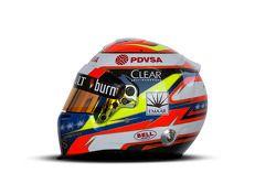 Helm von Pastor Maldonado, Lotus F1 Team