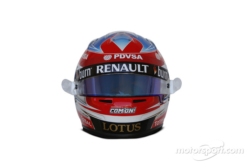 Helm von Romain Grosjean, Lotus F1 Team