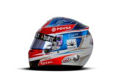 De helm van Romain Grosjean, Lotus F1 Team