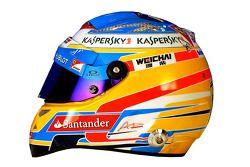 De helm van Fernando Alonso, Ferrari