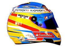 Helm von Fernando Alonso, Ferrari