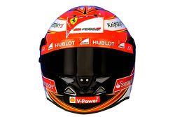 De helm van Kimi Raikkonen, Ferrari