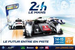 2014 Poster della 24 Ore di Le Mans 24
