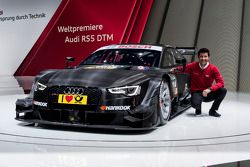 Mike Rockenfeller with the 2014-spec Audi RS 5 DTM