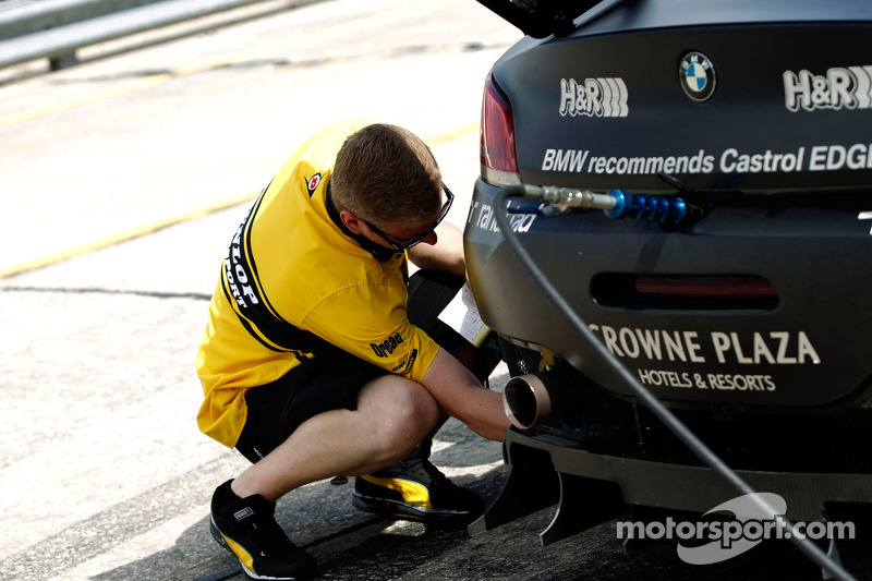 A Dunlop tire engineer