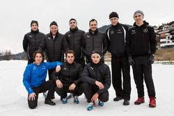 The 2014 Mercedes DTM drivers at Camp Seefeld for winter training: Paul, di Resta, Gary Paffett, Pas